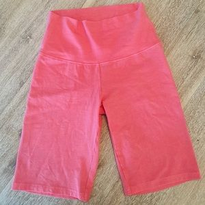 NWOT Tna pink biker shorts